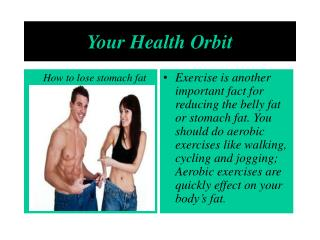losing stomach fat with healthy eating and effective exercis