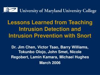 Lessons Learned from Teaching Intrusion Detection and Intrusion Prevention with Snort