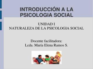 INTRODUCCI N A LA PSICOLOGIA SOCIAL