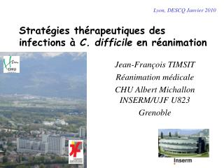 Strat gies th rapeutiques des infections   C. difficile en r animation
