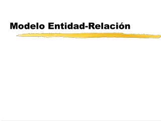 Modelo Entidad-Relaci n