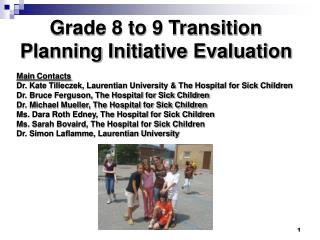 Grade 8 to 9 Transition Planning Initiative Evaluation