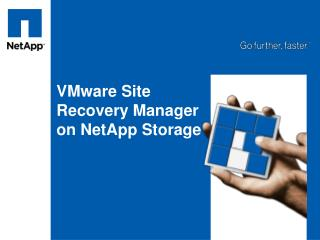 VMware Site Recovery Manager on NetApp Storage