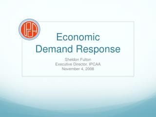 Economic  Demand Response