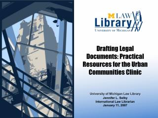 Drafting Legal Documents: Practical Resources for the Urban Communities Clinic