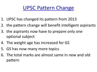 UPSC Change Pattern