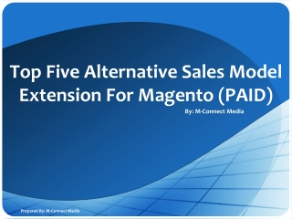 Top 5 Alternative Sales Model Magento Extension (PAID)