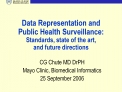 Data Representation and Public Health Surveillance:  Standards, state of the art,  and future directions