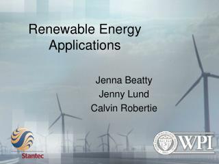Renewable Energy  Applications