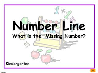 Number Line What is the  Missing Number