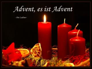 Advent, es ist Advent