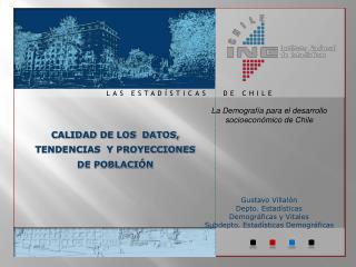 La Demograf a para el desarrollo socioecon mico de Chile      Gustavo Villal n Depto. Estad sticas  Demogr ficas y Vital