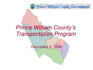 Prince William County s Transportation Program