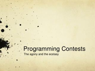 Programming Contests
