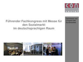 F hrender Fachkongress mit Messe f r den Sozialmarkt im deutschsprachigen Raum