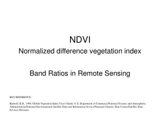NDVI  Normalized difference vegetation index