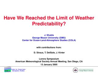 Have We Reached the Limit of Weather Predictability