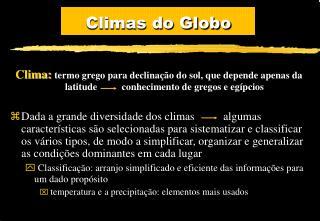 Climas do Globo