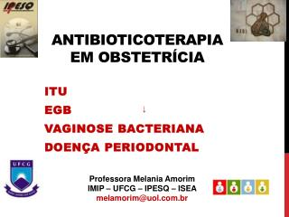 Antibioticoterapia  em obstetr cia