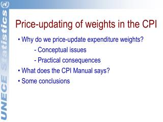 Price-updating of weights in the CPI