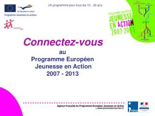 Connectez-vous  au  Programme Europ en  Jeunesse en Action 2007 - 2013