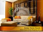 Online Home Goods Shopping store