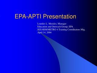 EPA-APTI Presentation