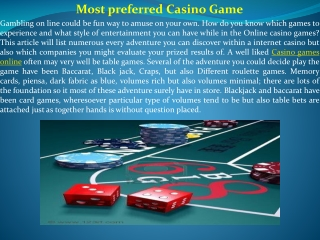 Most preferred Casino Game