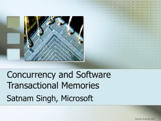 Concurrency and Software Transactional Memories