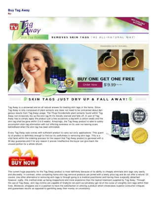 Buy Tag Away and Take the Gamble Out of Removing Skin Tags