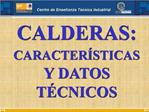 CALDERAS: CARACTER STICAS Y DATOS T CNICOS