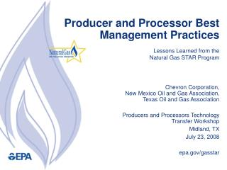 Producer and Processor Best Management Practices