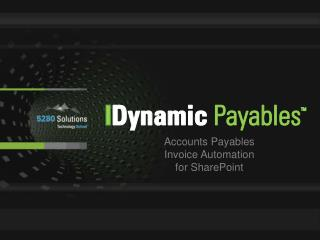 Accounts Payables Invoice Automation for SharePoint