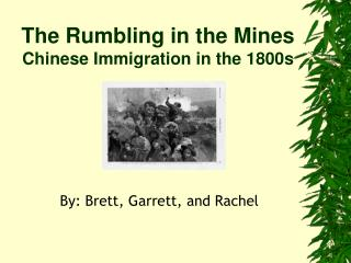The Rumbling in the Mines Chinese Immigration in the 1800s