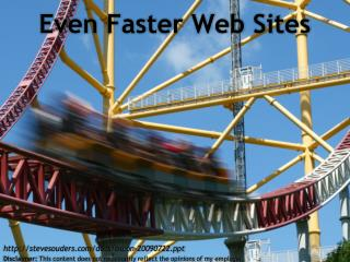 Even Faster Web Sites