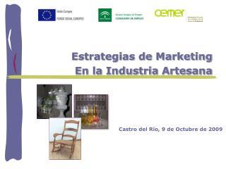 Estrategias de Marketing En la Industria Artesana