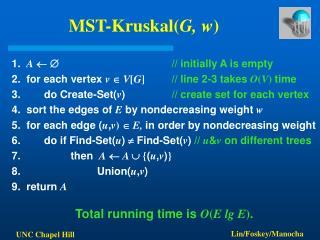 MST-KruskalG, w