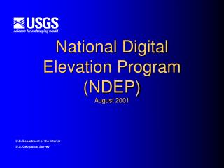 National Digital Elevation Program NDEP August 2001