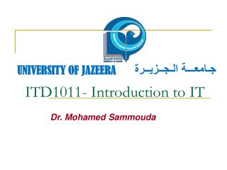ITD1011- Introduction to IT