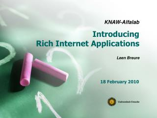 Introducing  Rich Internet Applications