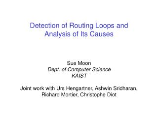 Detection of Routing Loops and  Analysis of Its Causes