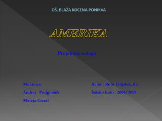O . BLA A KOCENA PONIKVA