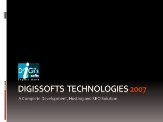 Digissofts Technologies web hosting, web development