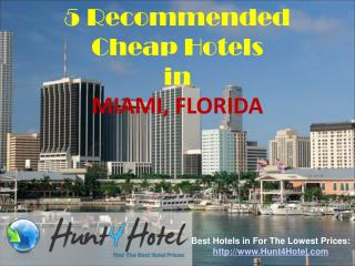 Miami - 5 Recommended Cheap Hotels