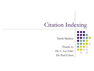 Citation Indexing