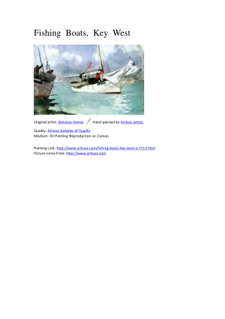 Fishing Boats, Key West