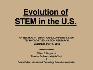 Evolution of STEM in the U.S.