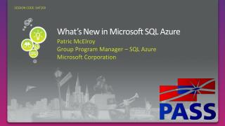 What s New in Microsoft SQL Azure