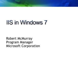 IIS in Windows 7