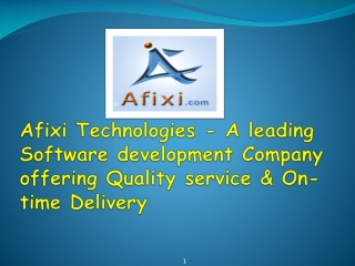 Afixi Technologies - A leading Software development Company